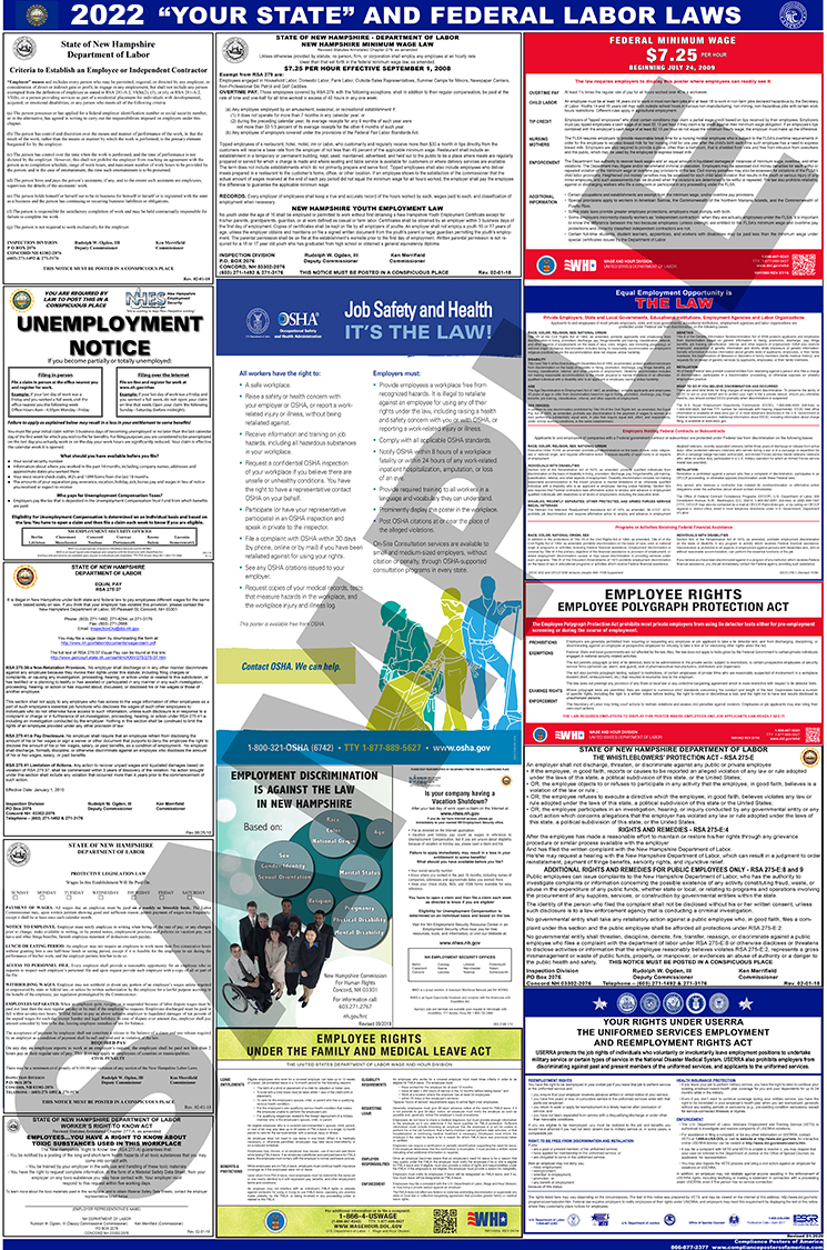 Maine and Federal Labor Law Poster