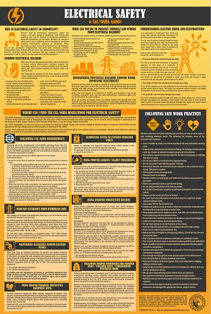 California Guide to Electrical Safety Poster