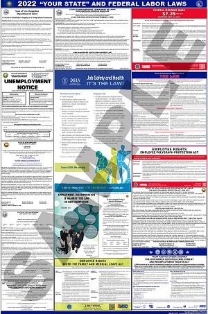 Washington and Federal Labor Law Poster - $19.95